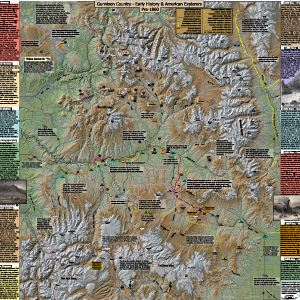 Gunnison Country - Early History & American Explorers Map